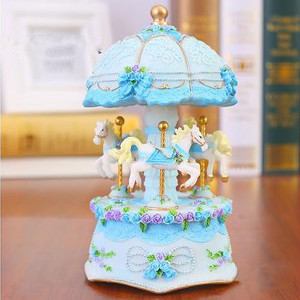 Beautiful music box, carousel,