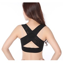 2018 Hot M-XL Girl Lingerie Solid Underwear Corset Lady Chest Brace Support Belt Posture Back Shoulder Corrector Vest