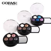 Five Color New Professional Eyes Makeup Pigment Eyeshadow 5 ColorsMetallic Shimmer Eye Shadow Palette Beauty
