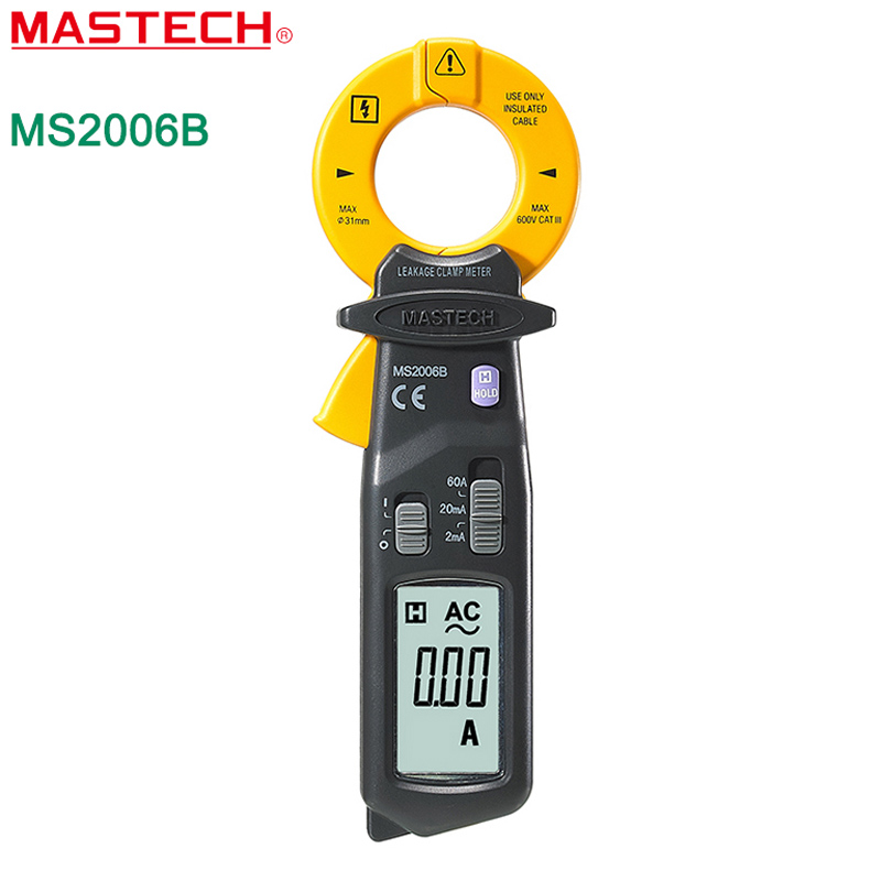 MASTECH MS2006B Digital Clamp Meters AC Current Tester AC Leakage Clamp Meter 0 001mA Resolution Free
