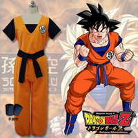 New Fashion Dragon Ball Z GoKu Train Cosplay Costume Halloween Party Anime Dragonball Costumes Full Set Tops+pants+belt+Bracers