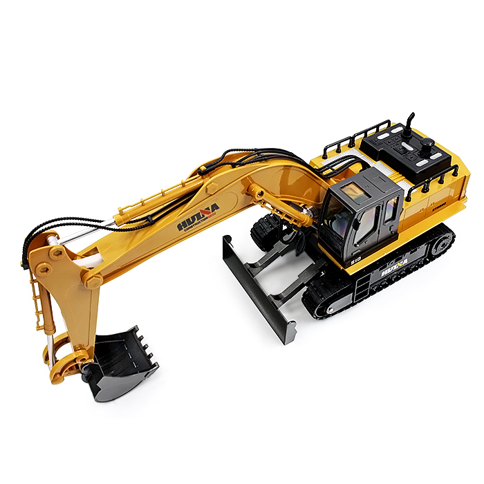 Huina 1510 RC Excavator Car 2.4G 11CH Metal Remote Control Engineering Truck Digger Model Electronic Heavy Machinery Toy rc excavator 15ch 2 4g remote control constructing truck crawler digger model electronic engineering truck toy радиоуправляемые ма