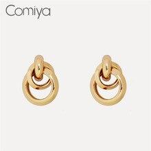 deeedac7adb6 Comiya Aliexpress pendientes para las mujeres De Color oro De aleación De  Zinc De moda coreana pendientes elegante Aretes De Muj.