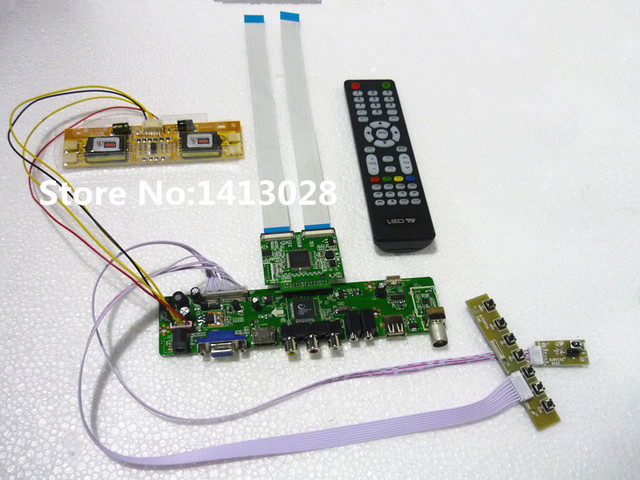 TV+HDMI+VGA+AV+USB+AUDIO LCD driver board 22 inch CHI MEI A220Z1 H01 1680*1050 USB can upgrade the firmware and video playback