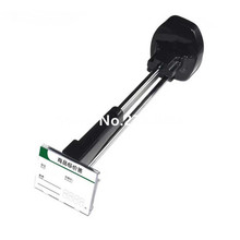 (100 pcs/pack ) black color 180mm magnetic key pure price tag slat wall secure display hook