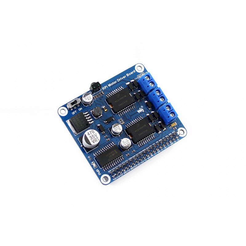 module Waveshare Raspberry Pi A+/B+/2B/3B Expansion Board Motor Driver Board DC Motor / Stepper Motor Driver for DIY Mobile Robo dual mc33886 motor driver board dc 5v 2a for smart car raspberry pi a b 2b 3b