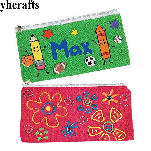 2pcs lot create your own pencil bag drawing toys early earning