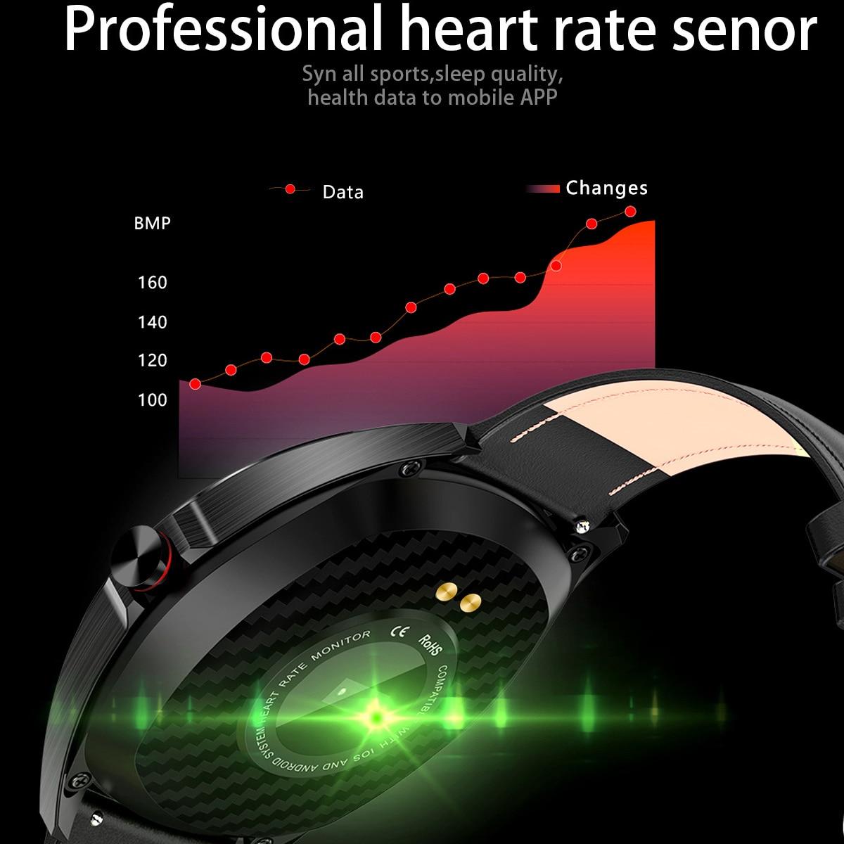 """Garde temps K7 IP68 étanche montre intelligente 1.3 """"écran tactile rond moniteur de sommeil de fréquence cardiaque Sport Smartwatch Tracker de Fitness-in Montres connectées from Electronique    2"""