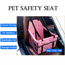 2017 Folding Pet Carrier Waterproof Dog Seat Covers For Cars Breathable Carrier Basket Safety Single Seat Bag For Travel Hammock