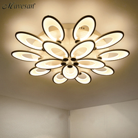 Remote Control Modern Led Ceiling Lights For Living Room Bedroom AC85 265V New White Modern Ceiling