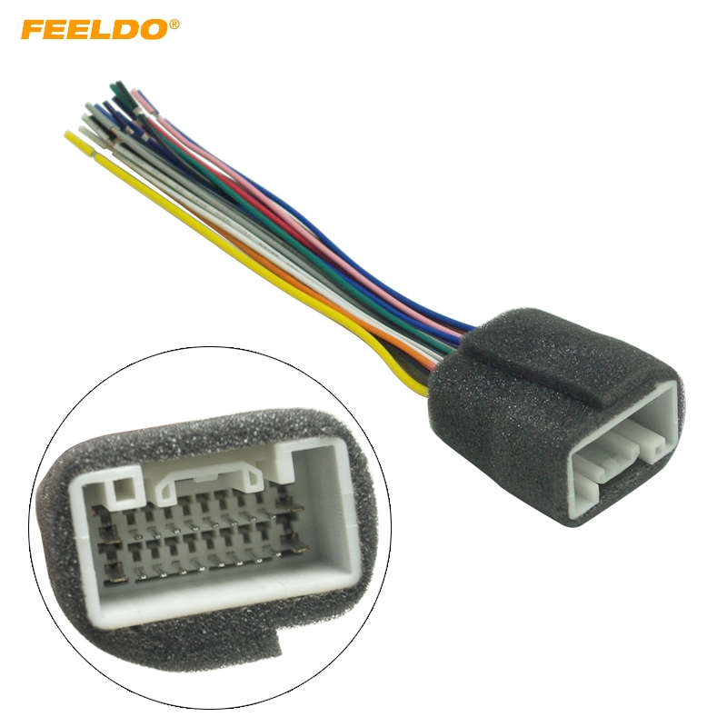 Feeldo 1pc Car Radio Stereo Wiring Harness Adapter For Mitsubishi Lancer0814: Car Stereo Wiring Harness At Sewuka.co