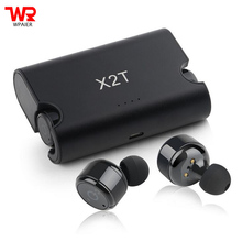 Buy online WPAIER X2T HIFI Wireless Bluetooth headphones Outdoor portable Subwoofer headset V4.2 wiht charge box universal type earphones