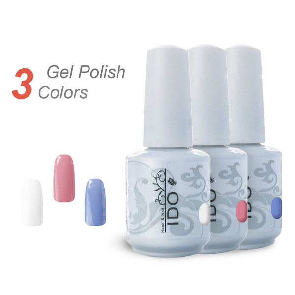 IDO 15ml Gel Polish 302 Colors Top Base Coat Primer Nail Gel UV Polish Soak Off Nail Art