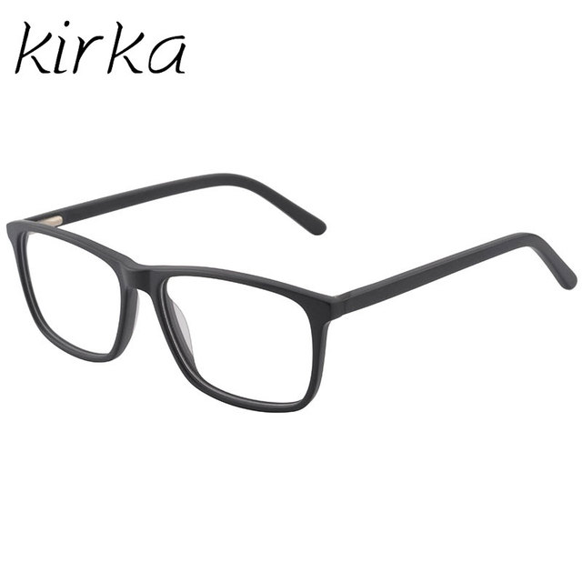9e0187fbff Kirka Classic Men Black Eyeglasses Top Quality Gafas Men Acetate Glasses  Frame Full Rim Frame Optical Glasses for Male