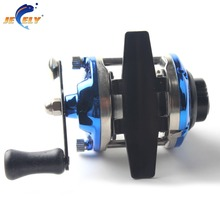 Smallest Bait Casting Mini Ice Fishing Reel with Line 50M Metal Water Wheel Winter Fishing River Plate Baitcast Coil Roller