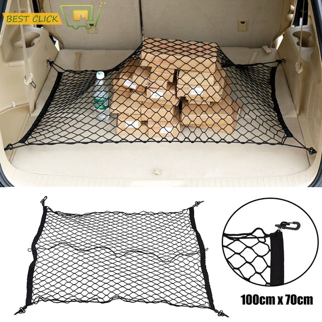 100*70CM Rear Trunk Boot Floor Cargo Net Mesh Luggage Elastic Net For Jeep Grand Cherokee 2011-2017 WK2 2016 2015 2014 2013 2012
