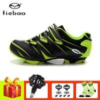 Tiebao zapatillas ciclismo mtb الدراجات أحذية pedales bicicleta mtb triatlon الرجال النساء تنفس الذاتي قفل رياضية|أحذية ركوب الدراجات|   -