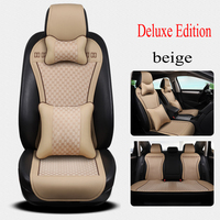 Kalaisike Leather Universal Car Seat Cushion For Dodge All Models Caliber Ram Car Styling Car Accessories