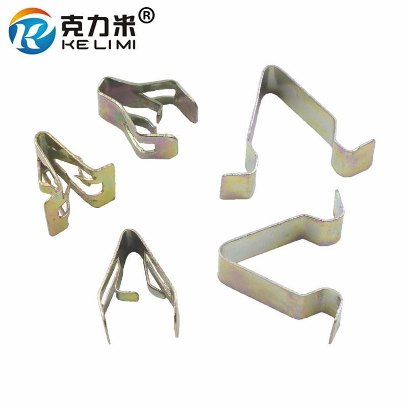 Metal Clips Retainer Instrument Panel Auto Fasteners Universal Car Radios Dashboard DVD Metal U Cord Lock Retaining Clip
