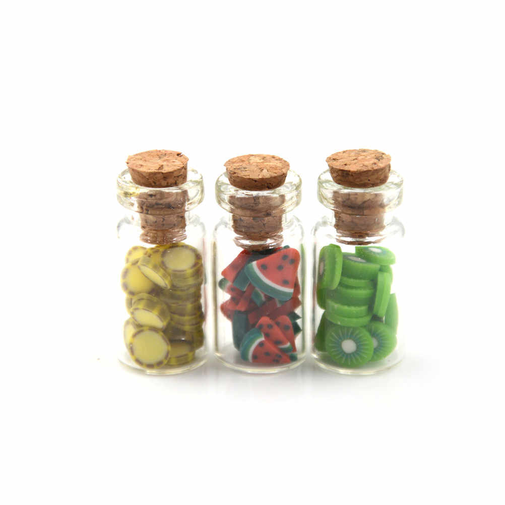 1:6 1:12 Scale Mini Fruit Vegetable Bottle Dollhouse Miniature Toy Doll Food Kitchen Living Room Accessories Decoration