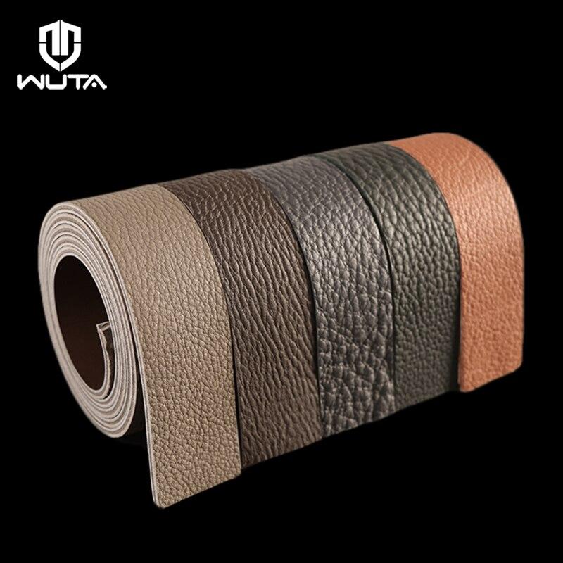 WUTA TOGO + boîte-ceinture en cuir de veau matériel Kits en cuir véritable Semi-fini fait main bricolage vous-même facilement-pas de boucle WT999