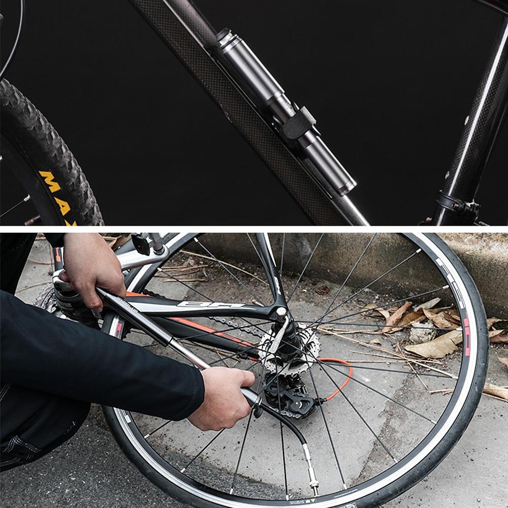 New Mini Portable Bike Bicycle CARBON Fiber Hand Pressure Air Tyre Inflator Pump