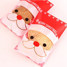 100Pcs/Lot  Santa Claus Snowman Christmas Gift And Candy Packaging Bag  Cake And Cookie Baking Bag MR0055