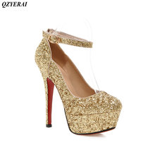 QZYERAI New spring and autumn metal high heel women's single shoes pointed shoes women's shoes sandals free postage