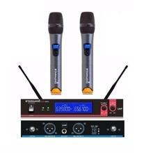 STARAUDIO SMU-0202A Transmissor UHF Dual Channel 2 Handheld Mic Profissional Microfone Sem Fio Karaoke Sistema