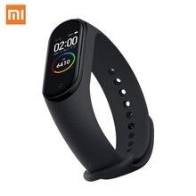 Смарт браслет XIAOMI Mi Band 4, цветной экран AMOLED 2.5D 0,95 дюйма, 5ATM водонепроницаемый Bluetooth 5,0, датчик сердечного ритма, приложение Miband Mi Fit