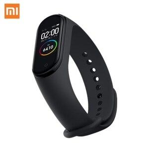 "Image 1 - XIAOMI Mi Smart Band 4 Bracelet AMOLED 2.5D 0.95"" Color Screen 5ATM Waterproof Bluetooth 5.0 Heart Rate Sensor Miband Mi Fit APP"