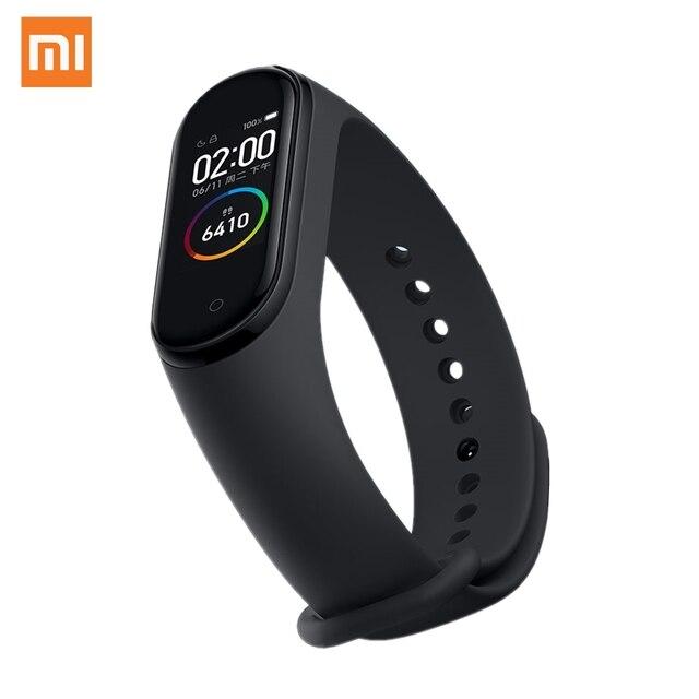 "XIAOMI Mi Smart Band 4 Bracelet AMOLED 2.5D 0.95"" Color Screen 5ATM Waterproof Bluetooth 5.0 Heart Rate Sensor Miband Mi Fit APP"