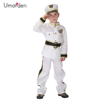 Umorden Purim Carnaval Disfraces Trajes Crianças Menino Marinha Marinha Traje de Cosplay Do Partido do Dia Das Bruxas para Crianças Meninos