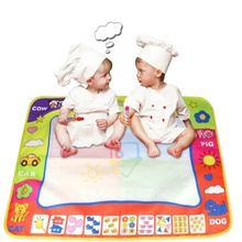 Kacakid 80X60cm Kids Water Drawing Painting Writing Learning Toys Doodle Aquadoodle Mat Magic Drawing Board+2 Water Drawing Pen
