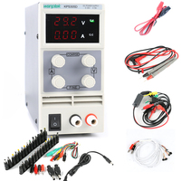 KPS305D LED Adjustable DC Power Supply 30V 5A FOR Smart Phone and Notebook Repair Power Supply + DC AC JACK SET + Repair cable