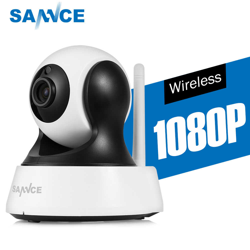 Sannce 1080P HD Kamera CCTV IR Cut Day/Night Vision P2P Indoor 2MP Kamera Keamanan Nirkabel Wifi bayi Surveilans Memantau