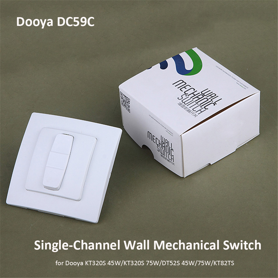 Original Dooya DC59C, Single-channel Wall Mechanical Switch, Work With Dooya 4 Wire Motors KT320S 45/75W,DT52S 45/75W, KT82TS