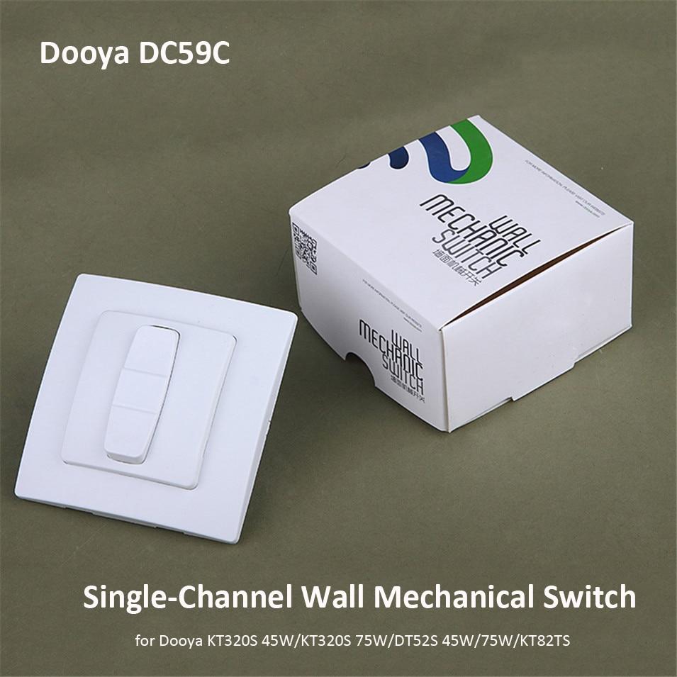 Original Dooya DC59C, Single-channel Wall Mechanical Switch, Work With Dooya 4 Wire Motors KT320S 45/75W,DT52S 45/75W, KT82TS