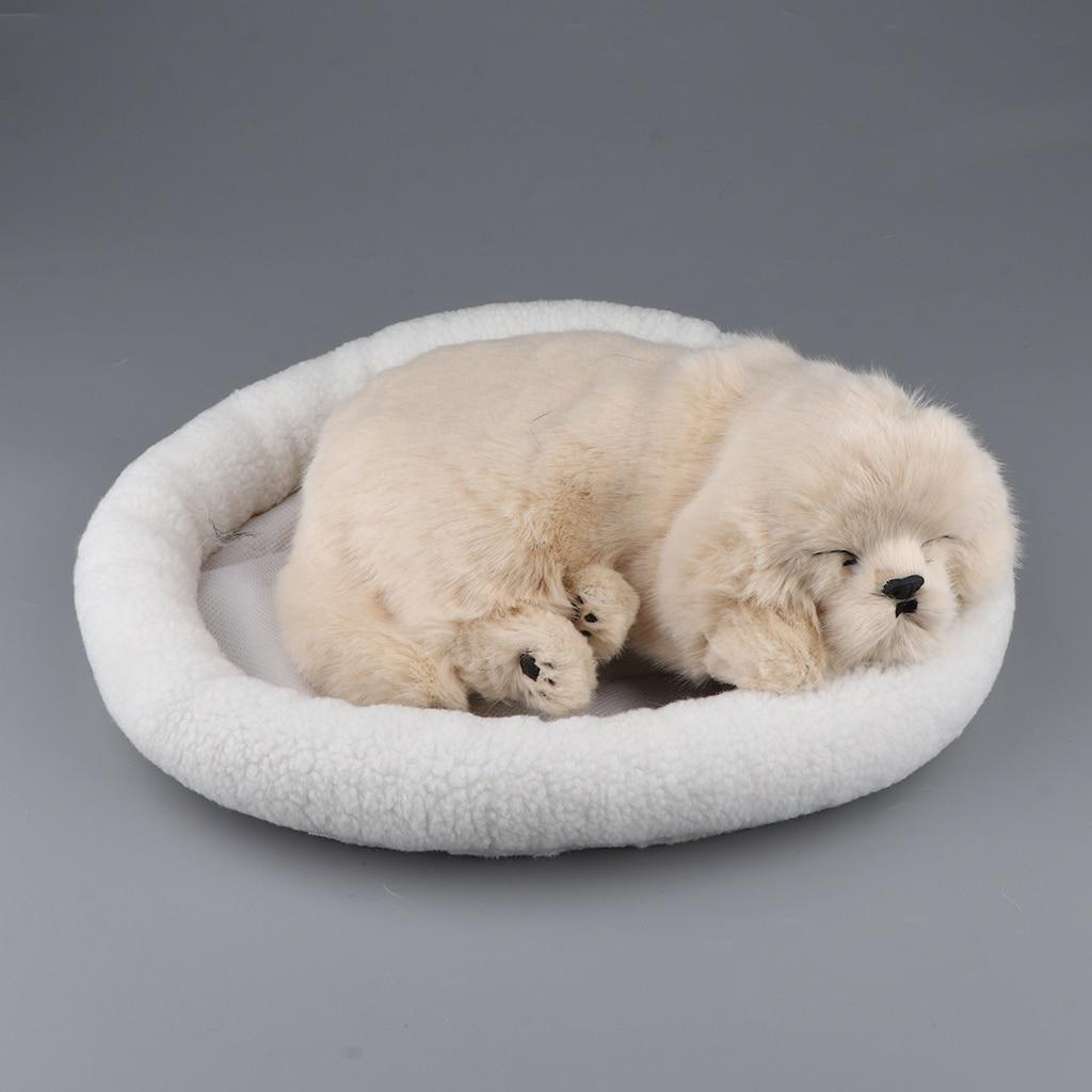 Mignon enfants jouets Simulation en peluche chien en peluche batterie ornement chiot chien décoration de la maison Labrador Husky modèle jouet avec tapis