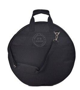 """Image 3 - プロフェッショナルポータブル肩バックパックは負荷 4 個 20 """"デラックスシンバルバッグキャリングケースドラムシンバル楽器ギグ黒"""