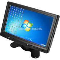 Мини монитор CCTV CWH YC702 с 7 TFT светодиодный ЖК дисплей Экран Дисплей для ПК компьютер автомобиля и дома CCTV Камера системы с VGA AV BNC