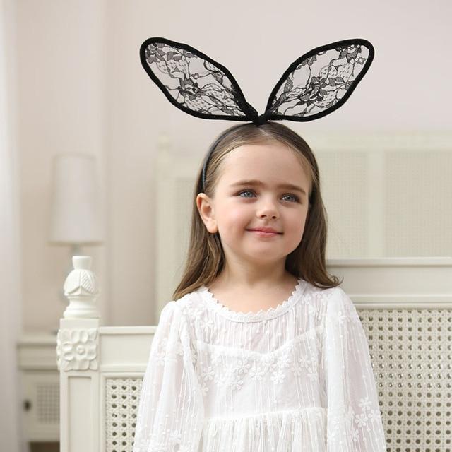 Top Fashion Lovely Niñas grande largo conejo orejas Hairband ...