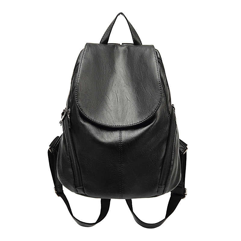 Backpack Female Genuine Leather Women Backpacks School Bag Stripe Multifunctional Leather Back pack on Shoulder Female new C626