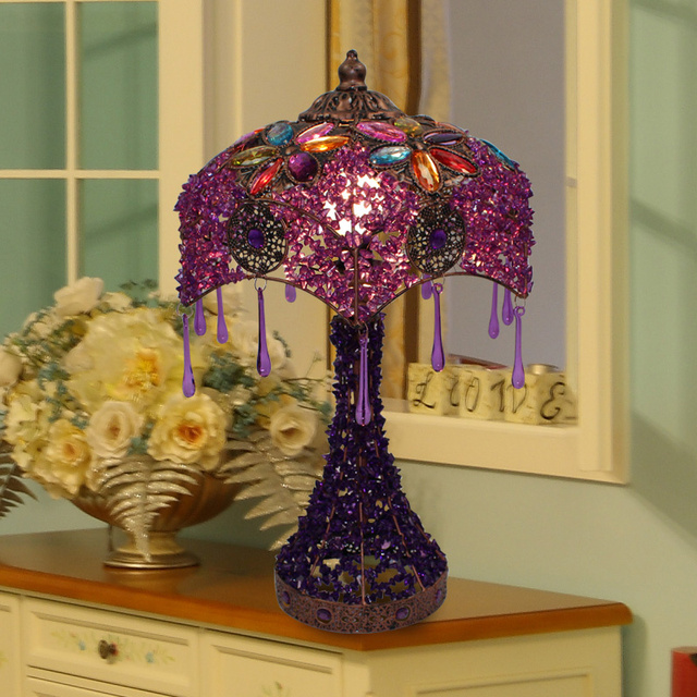 Bohemian Style Fashion Vintage Table Lamp Table Lamp Bed Lighting Lighting  Beaded Lighting Free Shipping