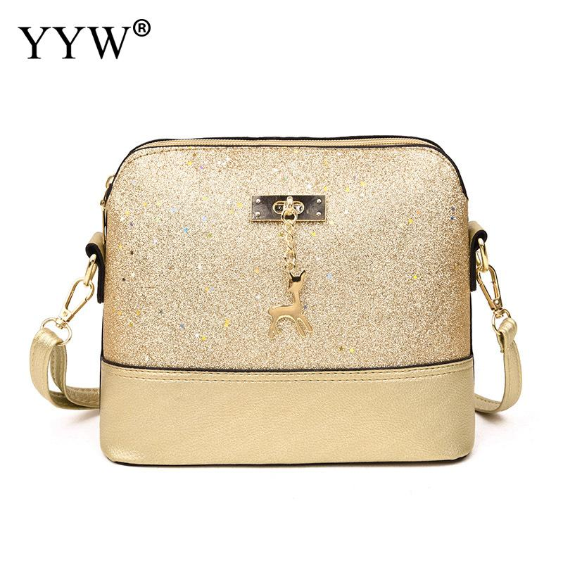 Sequin Shoulder Crossbody Bags For Women 2019 Fashion Mini Small Clutch Purse Female Gold Messnage Bag Clutches Party Bag Girl