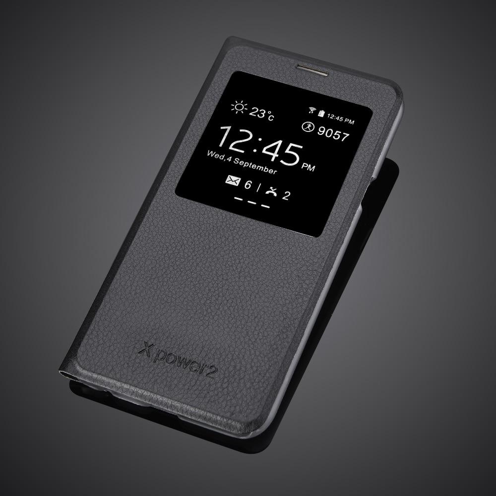 Para lg X Power 2 Funda de cuero PU de lujo de 5,5 pulgadas con ventana Flip funda de teléfono para lg Xpower 2 Xpower2