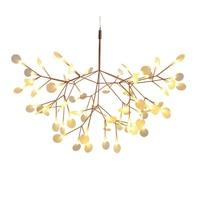 LED Chandelier Luxury Tree Leaf Modern Hanging Lamps for Dining Room Bedroom Home Decoration Creative Art Design Indoor Lighting