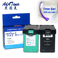 1Set 131 135 Re Manufactured Ink Cartridges Replacement For HP Photosmart C3183 C3100 C3150 C3180 1500