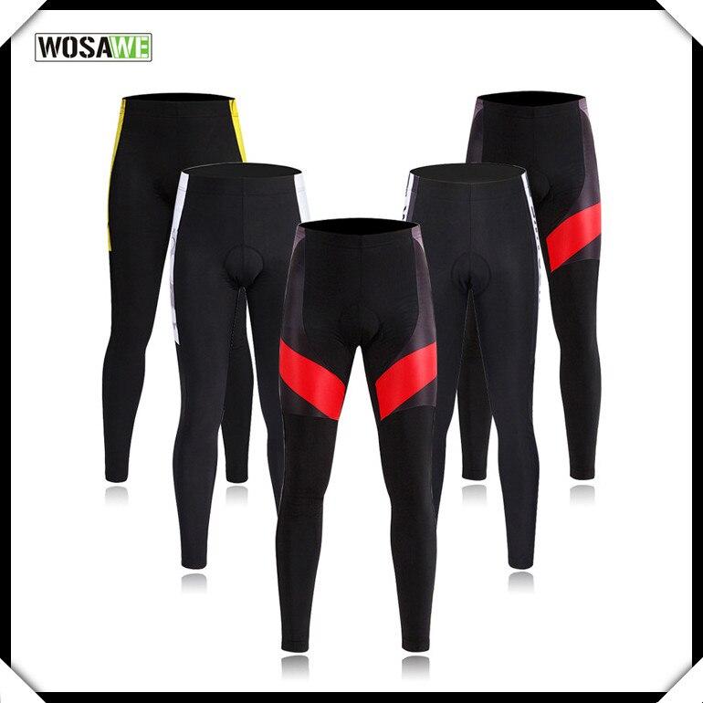 Bike Pants WOSAWE Men & Womens Sportswear Cycling Pants Cycle Riding Clothing Bicycle Pants Bike Tights Long Trousers