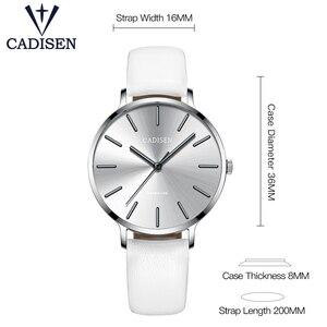 Image 2 - Nuovo 2021 CADISEN Leisure Quartz Thin Women Watch Luxury Brand Dress Ladies orologio in acciaio inossidabile orologi impermeabili ultrasottili